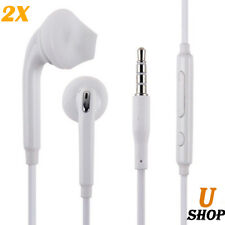 2x Handsfree White Headphones Earphone For Mobile Phone Smart Phones Laptop iPad