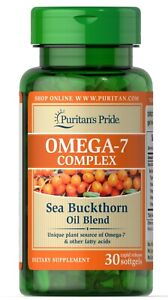 Puritans Pride Omega-7 Complex Sea Buckthorn Oil Blend - 30 Softgels (free ship)