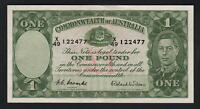 Australia R-32. (1952) One Pound - Coombs/Wilson.. King George VI..  aEF-EF