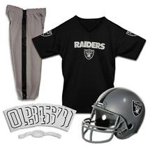 YOUTH MEDIUM Oakland Raiders NFL UNIFORM SET Football Costume Game Day Ages 7-9