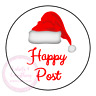 Christmas Happy Post Thank You Stickers Seals Labels Orders Customer Good News