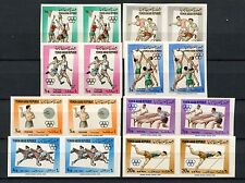 Yemen 1964 SG#247-254 Olympic Games Imperf MNH Pairs Set #A59100