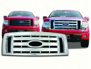 2009-2012 Ford F150 XL / STX / FX4 Chrome Plastic Grille Insert CCI # GI/73 NEW