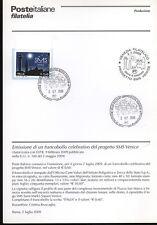 ITALIA 2009 SMS VENICE BOLLETTINO COMPLETO DI FRANCOBOLLI ANNULLO FDC