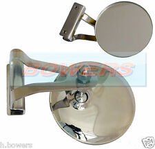 "CLASSIC AUSTIN BMC MINI 3"" CLAMP CLIP ON STAINLESS STEEL OVERTAKING PEEP MIRROR"