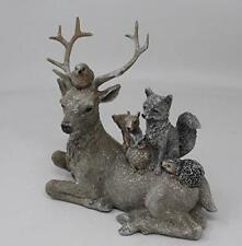Stag Fox Owl Squirrel Robin Hedgehog Woodland Animals Figurine Ornament 16cm Tal