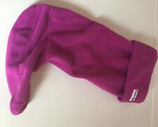 Womens Hunter Pink Fleece  Welly Wellington Boots Socks Size Large