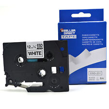 2 x Brother Compatible P-Touch Tape for PT-1080 / PT1080 12mm Black on White