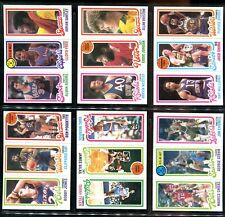 1980-81 Topps Basketball Lot of 13 cards, Stars/commons/Minor ExMT-NM/MT