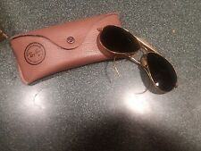 VINTAGE BAUSCH & LOMB RAY BAN RB3 TRUGREEN LENS OUTDOORSMAN AVIATOR SUNGLASSES