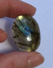 Transparent Gold And Blue Labradorite cab cabochon
