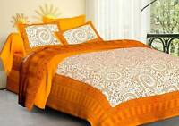 Pure Cotton Handmade Double Bed Sheet With 2 Pillow Cover Best For Occasion Gift