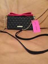 BETSEY JOHNSON Wallet Pink TOP BOW Zip Around Purse Clutch On a String $75
