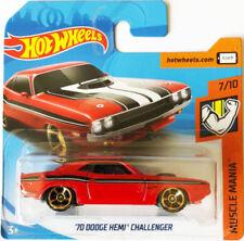 Véhicules miniatures rouges de série Hot Wheels Muscle Mania 1:64