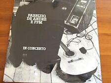 Fabrizio De André & PFM In Concerto LP VINILE NUOVO MINT CELOPHANATO ITA 1989