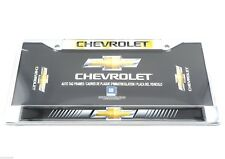 Chevrolet Chevy Car Truck Chrome Dome Metal Auto Tag License Plate Frame