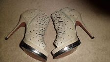 Heeled Shoes In Stone / Daquri By Sacha London From Dorothy Perkins.Size 5/38 .