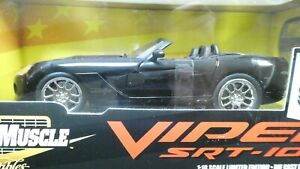 American Muscle ERTL Dodge Viper SRT-10 Black 1/18 Limited Edition MIB