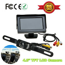 4.3″ Wired TFT LCD Monitor Car IR Rear View Reverse Parking Backup Camera Kit