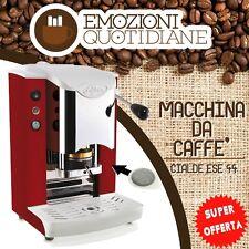 MACCHINETTA CAFFE A CIALDE IN CARTA 44MM FABER SLOT INOX ROSSA NUOVO COLORE