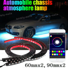 "24"" 36"" RGB Tube LED Car Underglow Neon Strip Light Kit APP Control For Chevy"