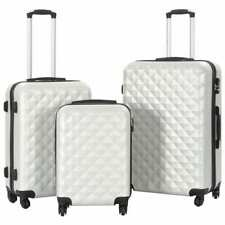 vidaXL Kofferset Hard 3-delig ABS Zilverkleurig Trolley Reiskoffer Reisbagage