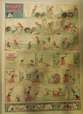 Mickey Mouse Sunday Page by Walt Disney from 8/15/1937 Tabloid Page Size