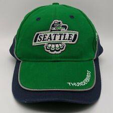 Seattle Thunderbirds WHL Embroidered Logo Hat Strapback Cap Green Blue