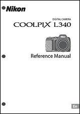 Nikon CoolPix L340 Digital Camera User Guide Instruction  Manual