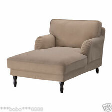 new  Ikea Stocksund Chaise longue sofa COVER SET ONLY, vellinge light brown   1