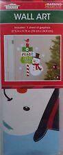 New Christmas Decal Window Wall Sticker Vinyl Art Xmas Decor ~ Wall Art Snowman
