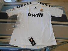 Raro REAL MADRID Adidas Bwin casa Ronaldo KAKA Raul Blanco Camisa 2009-10 Nuevo Y En Caja De Colección