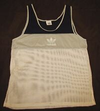 ADIDAS racing running tank top jersey t shirt vintage retro style l large gray