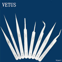 VETUS TS Precision Tweezers Fine Point Stainless Steel for Eyelash Extension