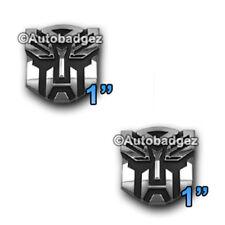 2-NEW Transformers AUTOBOTS Autobot badge emblem Optimus Prime CHROME PAIR MINI