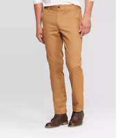 Goodfellow & Co Men's Flannel-Lined Slim Chino Pants - Dapper Brown