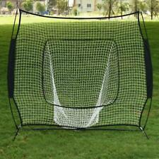 7×7'Baseball Softball Practice Hitting Batting Training Net Bow Frame Black Bag