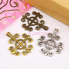 10Pcs Tibetan Silver,Antiqued Gold,Bronze Cross Charms Pendants DIY M1213