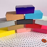 50~30~15 Luxury White lined  coloured Single Cake slice favour party boxes