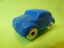VINTAGE VINYL PLASTIC  VW VOLKSWAGEN BEETLE BUG - BLUE L5.5cm - GOOD