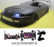 1/10 Scale  TOYOTA SUPRA- RTR Custom RC Drift -Cars  2.4Ghz & Charger FLAT BLK