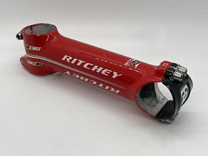 RITCHEY WCS 4-Axis Red Aluminum Alloy Road Stem 6° 130mm31.8mm GOOD USED