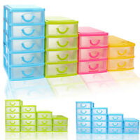Durable Plastic Mini Desktop Drawer Sundry Case Small Object Storage Case Box UK