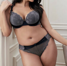 NEW Adore Me Holley Lace Underwire Padded Contour Bra Thong Panties Set 42H 3x