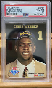 Chris Webber 1993-94 Hoops Draft Redemption #LP1 W Wrong Label PSA 10 Gem Mint