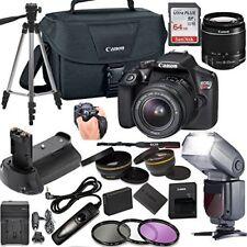 Canon EOS Rebel T6 DSLR Camera w/ 18-55mm Lens + Professional Bundle