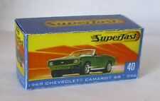Repro Box Matchbox Superfast Nr.40 1969 Chevrolet Camaro neue Box