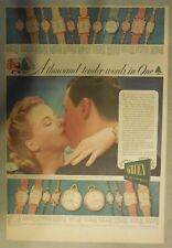 Gruien Watch Ad: A Thousand Tender Words ! Tabloid Page from 1940's