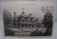 FOX OAK BURHILL SURREY Antique 19th Century Ricardo Architecture 1887 Victorian*