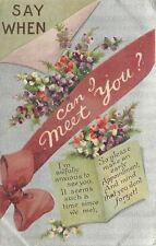 BB London~Red Ribbon~When Can I Meet You?~Purple White Heather~Silver~Ser #E295